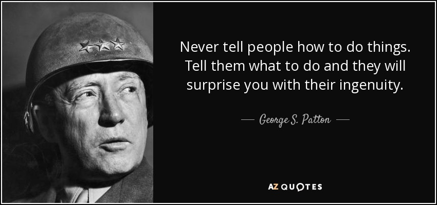 george patton leadership quote