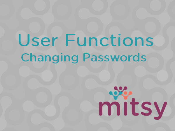 User Functions: Changing Passwords